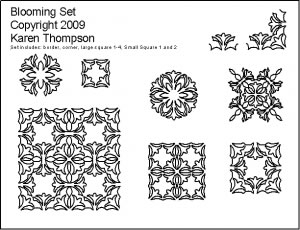 Digital Quilting Design Blooming Set by Karen Thompson.