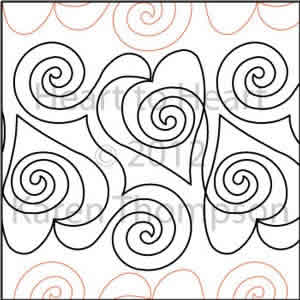 Digital Quilting Design Heart-to-Heart by Karen Thompson.
