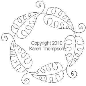 Digital Quilting Design Jungle Time Circle by Karen Thompson.
