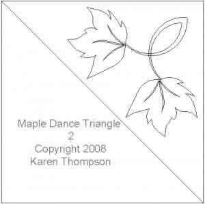 Digital Quilting Design Maple Dance Triangle 2 by Karen Thompson.
