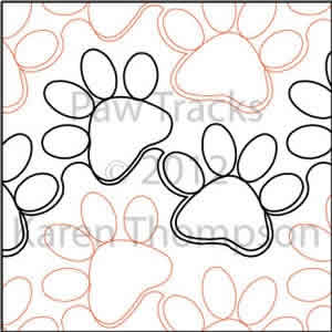 Digital Quilting Design Paw Tracks by Karen Thompson.