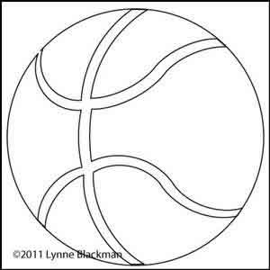 Digital Quilting Design Basketball by Lynne Blackman.