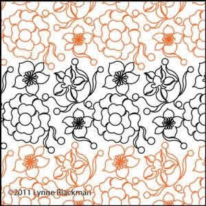 Digital Quilting Design Blooming Grays e2e by Lynne Blackman.