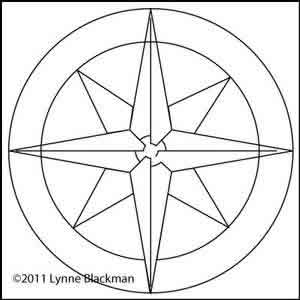 Digital Quilting Design Compass by Lynne Blackman.