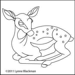 Digital Quilting Design Fawn by Lynne Blackman.
