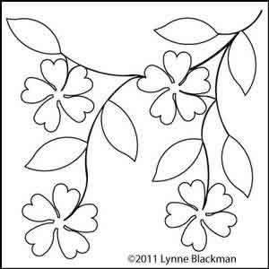 Digital Quilting Design Floral Branch by Lynne Blackman.