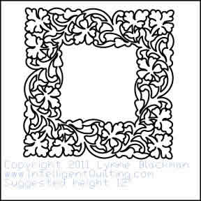 Digital Quilting Design Floral Frame by Lynne Blackman.