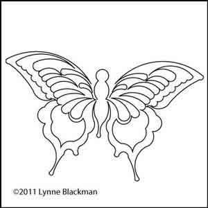 Digital Quilting Design Lynne's Butterfly by Lynne Blackman.