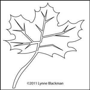 Digital Quilting Design Lynne's Maple Leaf by Lynne Blackman.