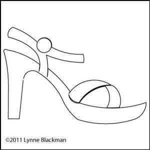 Digital Quilting Design Lynne's Sandal by Lynne Blackman.
