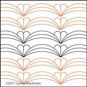 Digital Quilting Design Lynne's Scalloped border by Lynne Blackman.