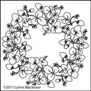 Digital Quilting Design Lynne's Strawberry Wreath by Lynne Blackman.