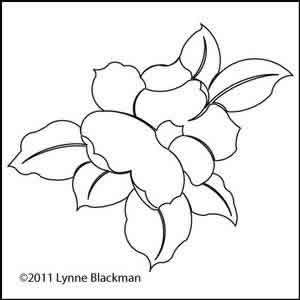 Digital Quilting Design Magnolia 1 by Lynne Blackman.