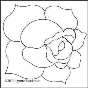 Digital Quilting Design Pirate Rose by Lynne Blackman.