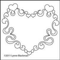 Digital Quilting Design Scroll Heart by Lynne Blackman.