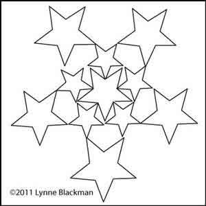 Digital Quilting Design Star of Stars by Lynne Blackman.