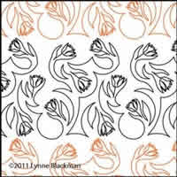 Digital Quilting Design Tulip Meander by Lynne Blackman.