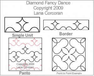 Digital Quilting Design Diamond Fancy Dance by Lana Corcoran.