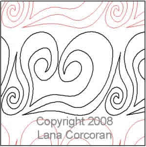 Digital Quilting Design Heart Panto/Border by Lana Corcoran.