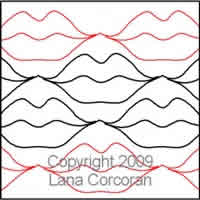 Digital Quilting Design Kiss Me by Lana Corcoran.