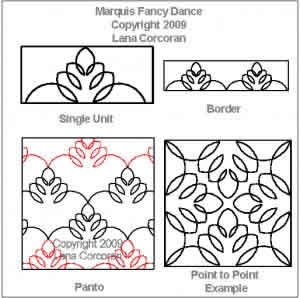 Digital Quilting Design Marquis Fancy Dance by Lana Corcoran.