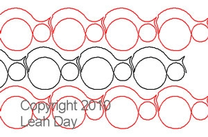 Digital Quilting Design Bubble Path by Leah Day.