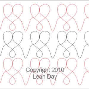 Digital Quilting Design Loopy Hearts by Leah Day.