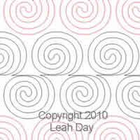Digital Quilting Design Spiral Vine by Leah Day.