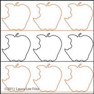 Digital Quilting Design Apple Core 2 by LauraLee Fritz.