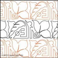 Digital Quilting Design Art Deco Floral Panto by LauraLee Fritz.