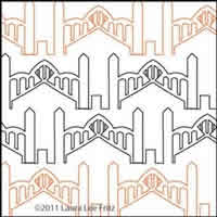 Digital Quilting Design Bridge Border by LauraLee Fritz.