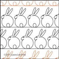 Digital Quilting Design Bunny 1 by LauraLee Fritz.