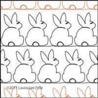 Digital Quilting Design Bunny 4 by LauraLee Fritz.