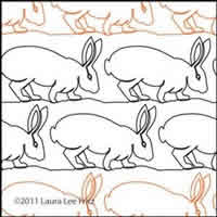 Digital Quilting Design Bunny 5 by LauraLee Fritz.