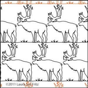 Digital Quilting Design Caribou by LauraLee Fritz.