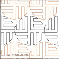 Digital Quilting Design Basket Weave Marble by LauraLee Fritz.