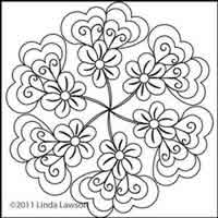 Digital Quilting Design Jacobean Motif 1 by Linda Lawson.
