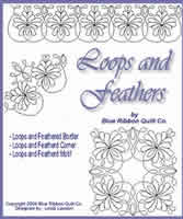 Digital Quilting Design Loops and Feathers by Linda Lawson.