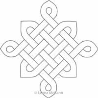 Digital Quilting Design Celtic Knot Block by Leona McCann.