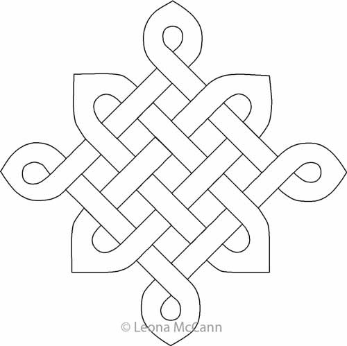 Celtic Knot Block Leona McCann Digitized Quilting Designs Delectable Celtic Knot Patterns