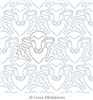 Ewes by Lone Minkkinen. This image demonstrates how this computerized pattern will stitch out once loaded on your robotic quilting system. A full page pdf is included with the design download.