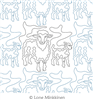 Sheep and Lamb by Lone Minkkinen. This image demonstrates how this computerized pattern will stitch out once loaded on your robotic quilting system. A full page pdf is included with the design download.