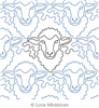 Sheepish by Lone Minkkinen. This image demonstrates how this computerized pattern will stitch out once loaded on your robotic quilting system. A full page pdf is included with the design download.