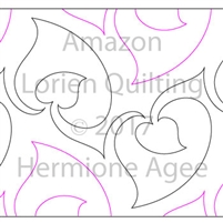 Digital Quilting Design Amazon by Lorien Quilting.