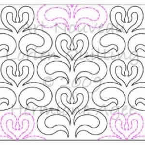Digital Quilting Design Art Nouveau by Lorien Quilting.