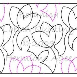 Digital Quilting Design Botanica by Lorien Quilting.