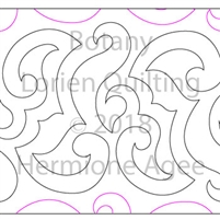 Digital Quilting Design Botony by Lorien Quilting.