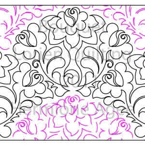 Digital Quilting Design Bouquet by Lorien Quilting.