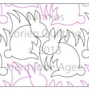 Digital Quilting Design Bunnies by Lorien Quilting.