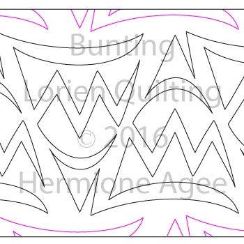 Digital Quilting Design Bunting by Lorien Quilting.